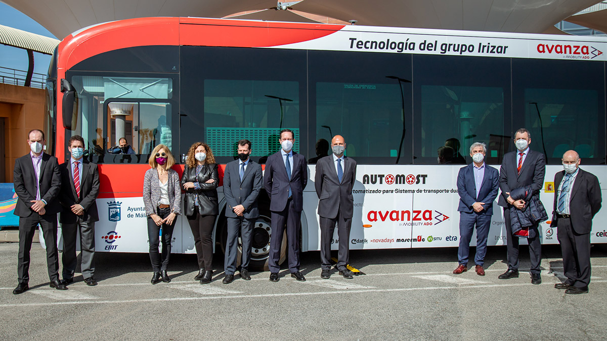The First Zero Emissions Autonomous Irizar Bus Is on the Road in Malaga