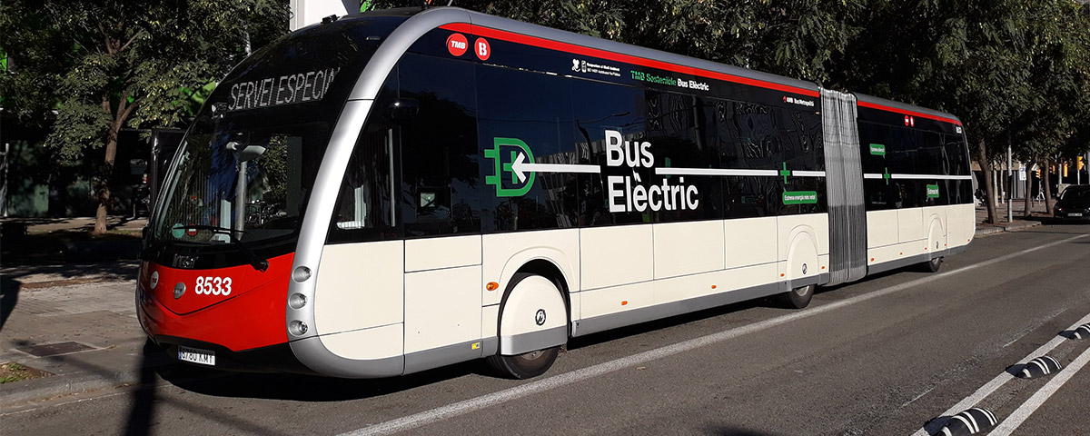 From December, the first 100% electric, zero-emissions Irizar ie tram buses will operate in Barcelona