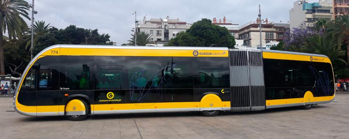 Entrega del primer autobús Irizar 100% eléctrico, cero emisiones para el operador Guaguas Municipales en Las Palmas de Gran Canaria