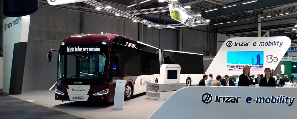 Irizar e-mobility presents its latest advances in technology, design, and innovation at the UITP Global Public Transport Summit in Stockholm