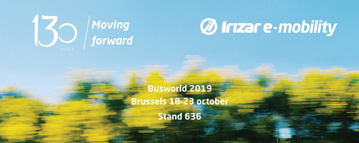 The Busworld International Bus and Coach Fair, which will take place between the 18th and 23rd of October, will feature an unprecedented display of the Irizar Group's brand, technology and sustainability strategy