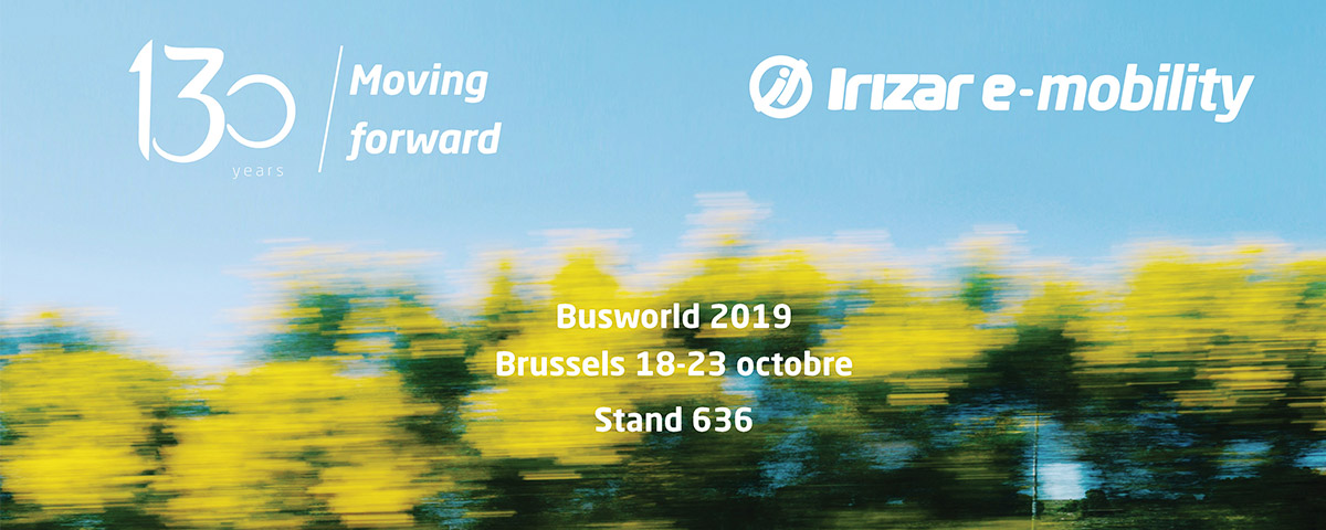 Irizar Group va déployer sa stratégie de marque, technologie et durabilité de façon exceptionnelle à l'occasion du Salon International des Autobus et Autocars Busworld, qui aura lieu du 18 au 23 octobre 2019