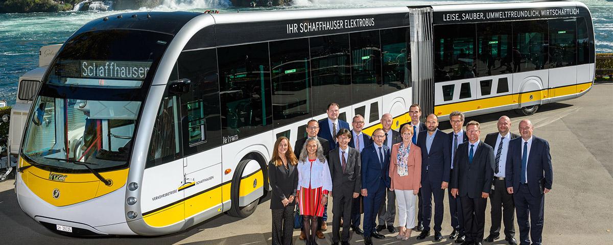El Gobierno Vasco visita la ciudad de Shaffhausen para conocer el proyecto de autobús eléctrico de Irizar