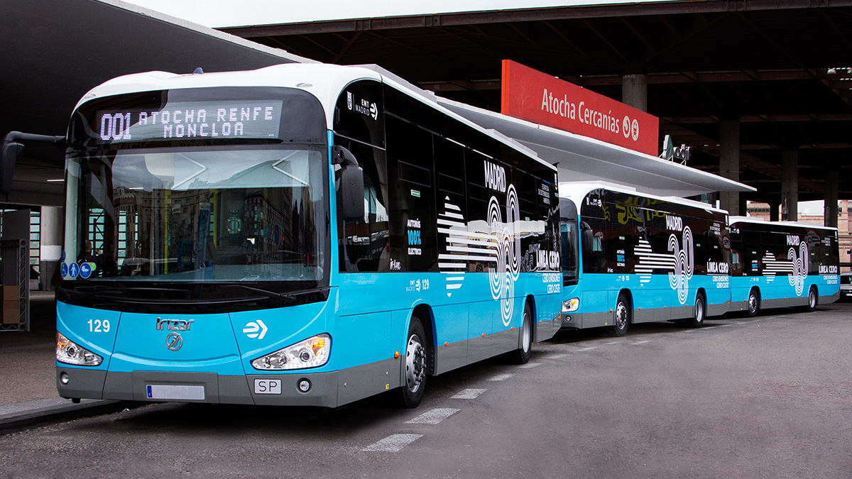 EMT Madrid places a third order with Irizar e-mobility – making a total of 55 Irizar brand electric buses added to its fleet