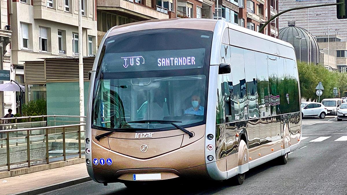 Santander is testing our demobus Irizar ie tram during the European Mobility Week